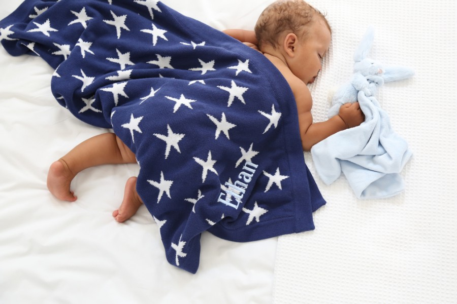 FEATUREDBlue & white star blanket3