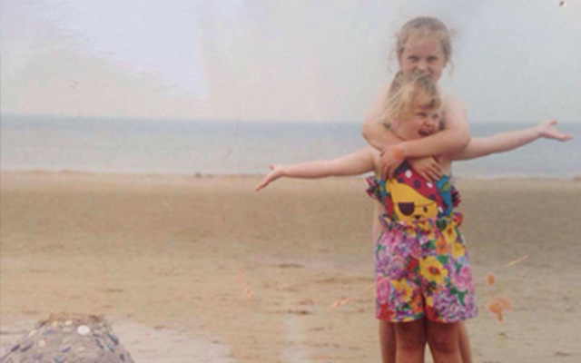 My 1st Years social media manager Livi as a child on holiday