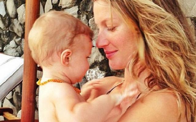 Gisele Bundchen with daughter Vivian Lake