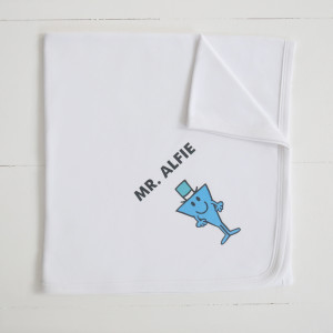 Mr Men white blanket1