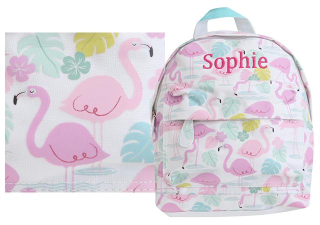 backpack prints flamingo