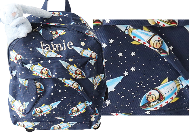 backpack prints space