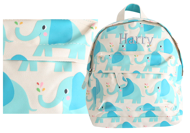 backpack prints elephant