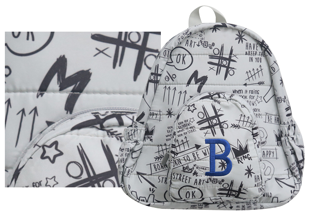 backpack prints graffiti