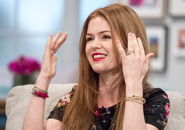 Mandatory Credit: Photo by Ken McKay/ITV/REX/Shutterstock (5591178k) Isla Fisher 'Lorraine' TV show, London, Britain - 22 Feb 2016 Australian film star ISLA FISHER (The Great Gatsby, Shopaholic) confirmed for studio chat about starring in husband Sacha Baron Cohen's new film GRIMSBY.