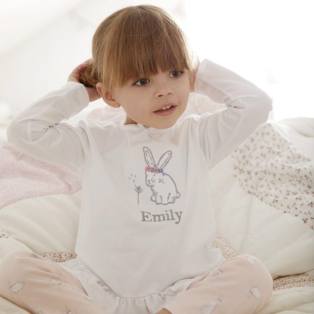 personalised_pink_bunny_print_pyjamas__child__1_sq_1000