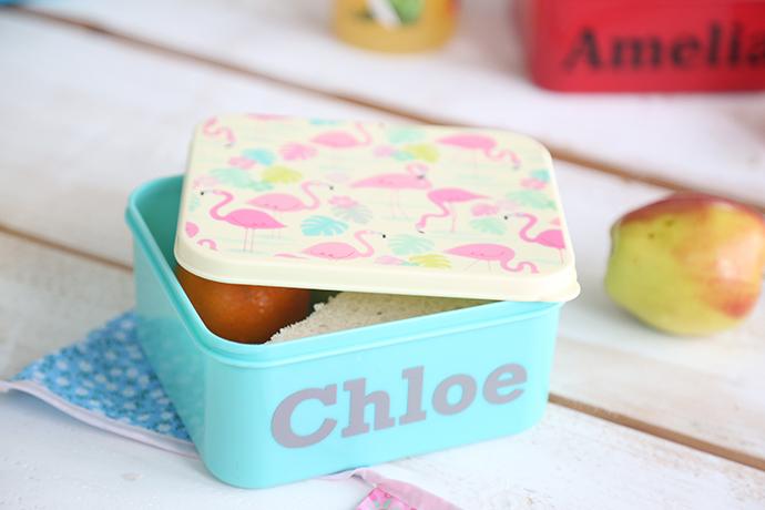 personalised_flamingo_print_mini_lunch_box_1
