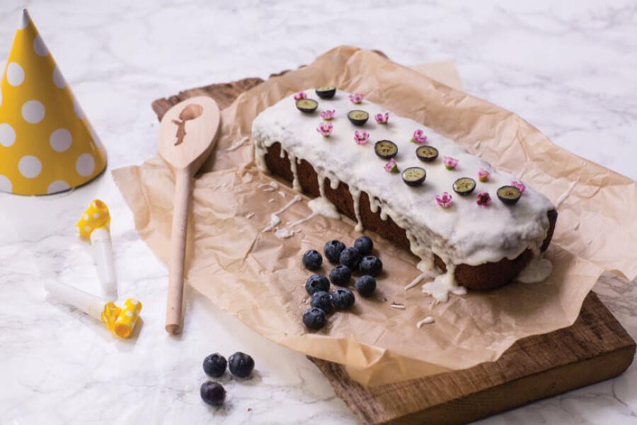 blueberry-banana-cake