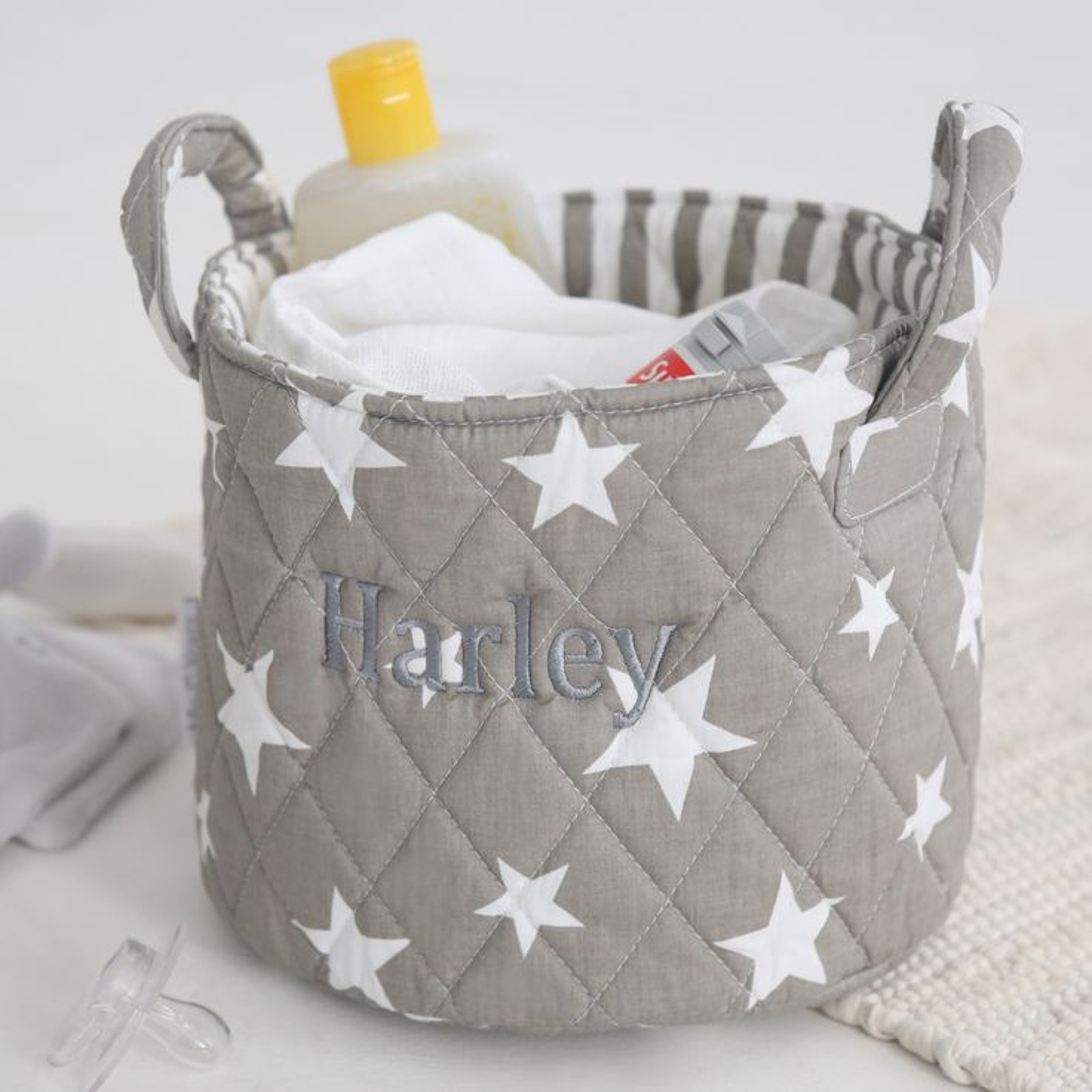Mini Grey Star Storage Bag