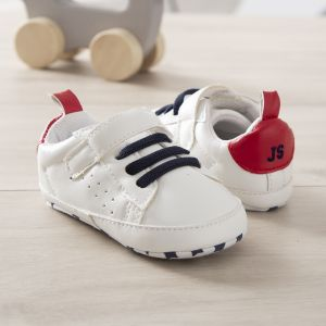 Personalised Red Velcro Trainers