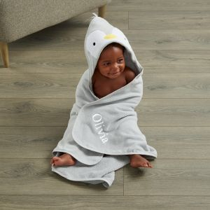 Personalised Penguin Hooded Towel
