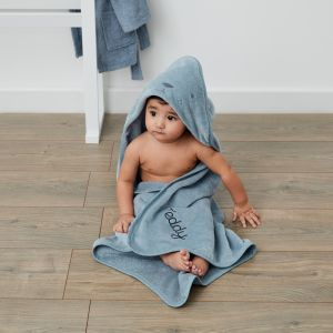 Personalised Blue Bear Hooded Towel