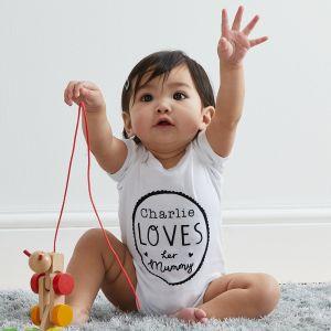 Personalised 'Loves Mummy' Bodysuit