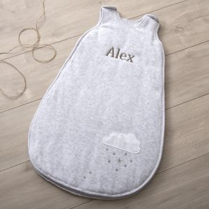 Personalised Cloud Velour Sleeping Bag