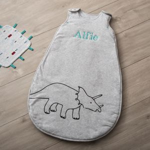 Personalised Grey Dino Sleeping Bag