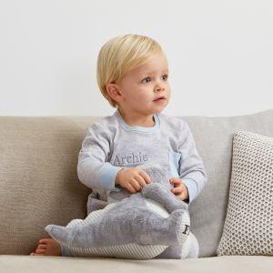 Personalised Grey Marl Pyjamas
