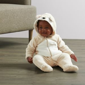Personalised Baby Deer Fleece Onesie - Model