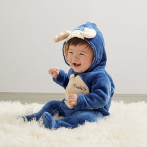 Personalised Moose Fleece Onesie - Model