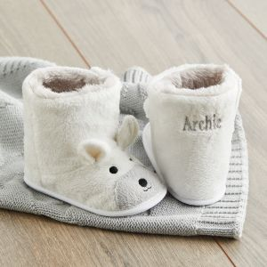 Personalised White Polar Bear Booties