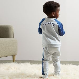Personalised Grey and Navy Tracksuit