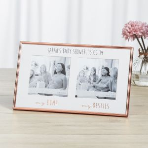 Personalised Rose Gold 'Baby Shower' Photo Frame