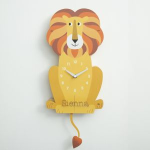 Personalised Children's Lion Wall Clock