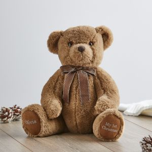 Personalised Traditional '1st Christmas' Brown Bear