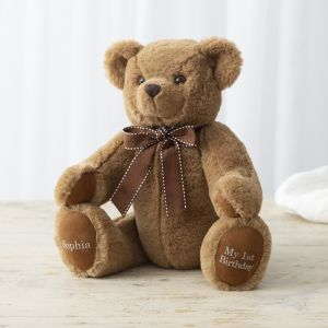 Personalised Traditional 'Birthday' Brown Bear