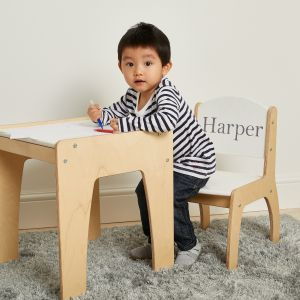 Personalised White Desk & Chair Set