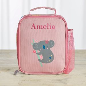 Personalised Koala & Friends Print Lunch Bag