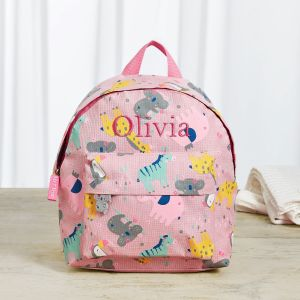 Personalised Koala & Friends Print Mini Backpack