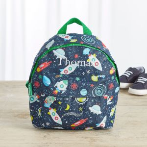Personalised Space Print Mini Backpack