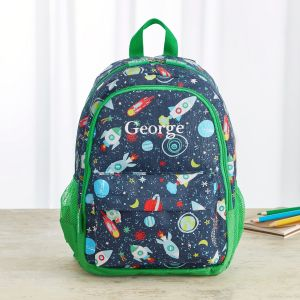 Personalised Space Print Infant Backpack