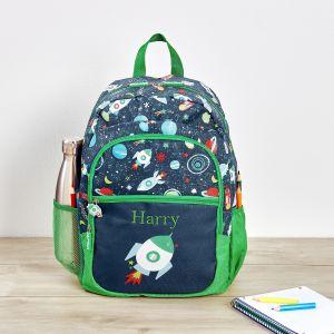 Personalised Space Print Junior Backpack