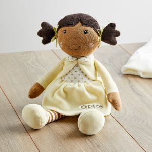 Personalised Rag Doll in Yellow Dress