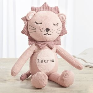 Personalised Pink Lion Soft Toy