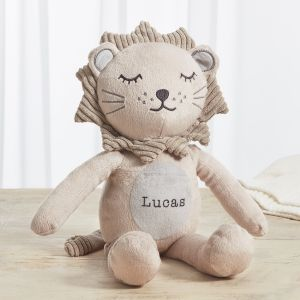 Personalised Taupe Lion Soft Toy