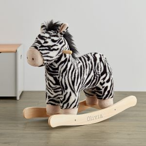 Personalised Plush Zebra Rocker