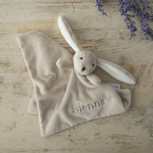 Personalised Taupe Bunny Comforter