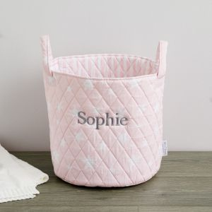 Personalised Medium Pink Star Storage Bag