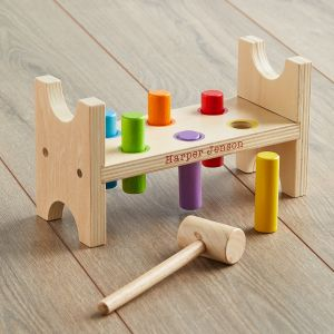 Personalised Multicoloured Wooden Hammer Bench