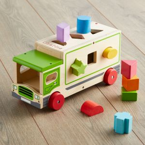 Personalised Wooden Shape Sorting Lorry
