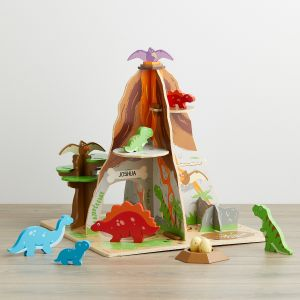 Personalised Wooden Dinosaur Island Toy