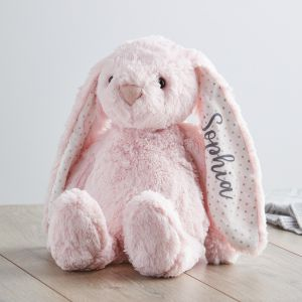 Personalised Medium Pink Bunny Soft Toy