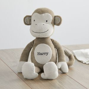 Personalised Textured Monkey Soft Toy