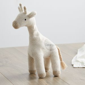 Personalised Knitted Giraffe Soft Toy
