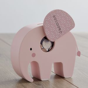 Personalised Pink Elephant Money Box Main