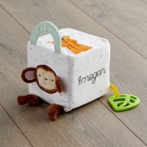 Personalised Jungle Animal Soft Activity Cube