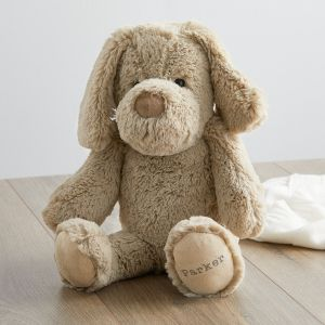 Personalised Taupe Puppy Soft Toy Main
