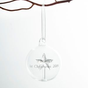 Personalised Star Glass Bauble